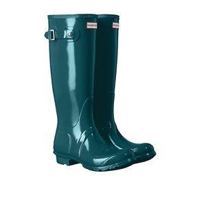 Turquoise Hunter rain boots